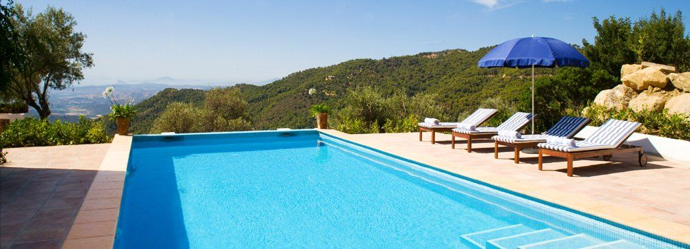 pool with views