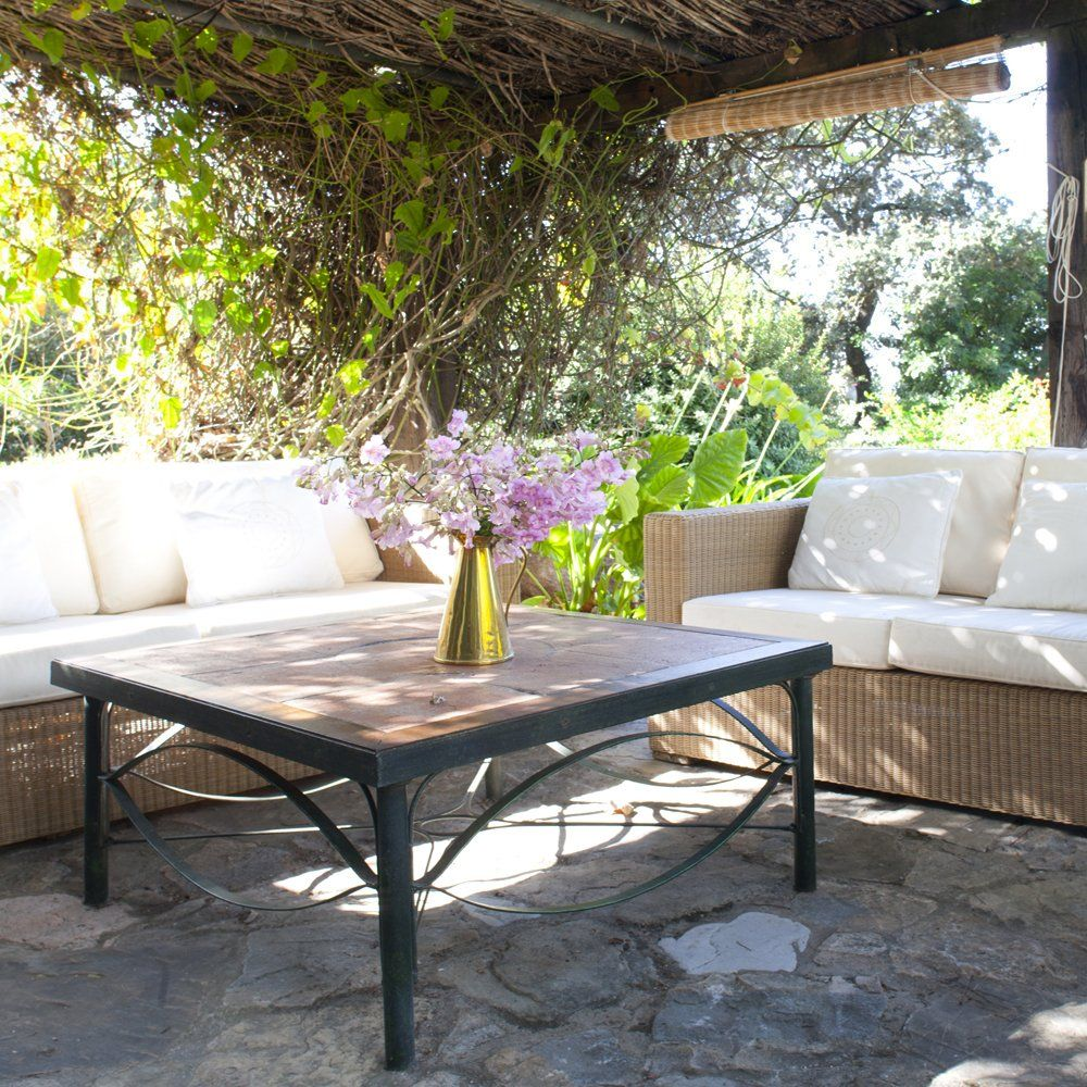 terrace with sofas