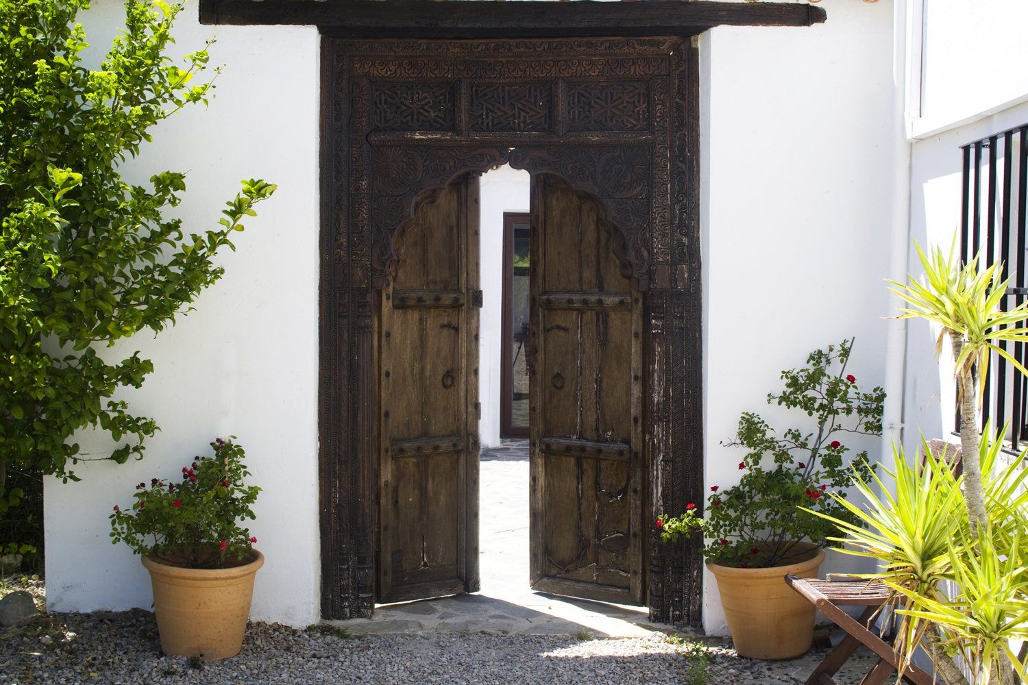front door to villa