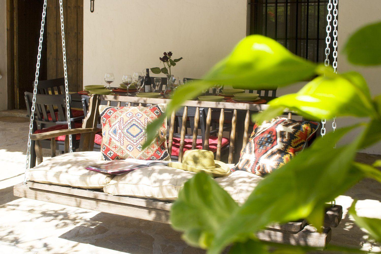 swing on villa terrace