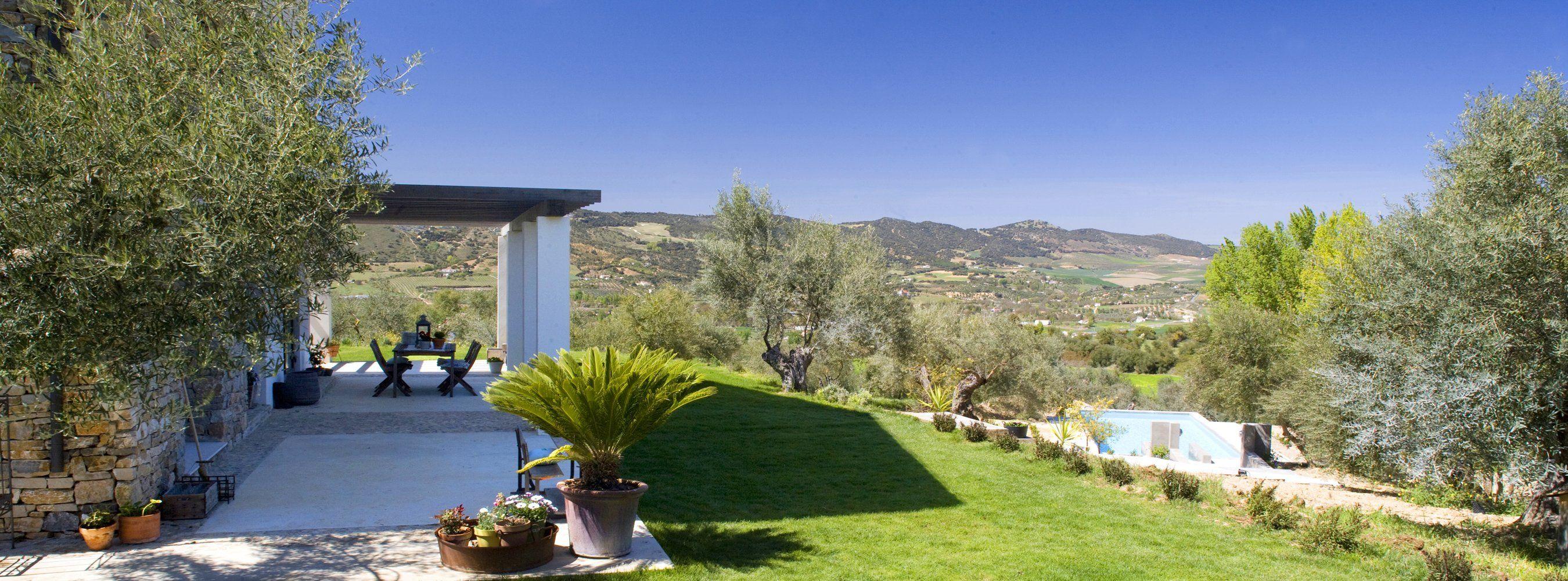 views over valley near ronda andalucia