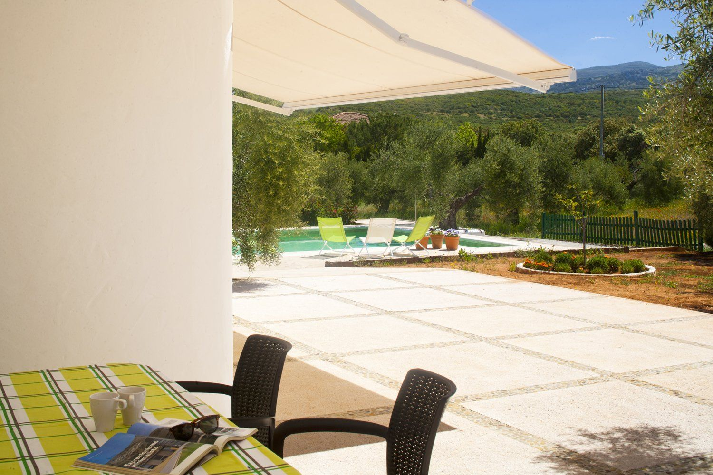 awning for shade  terrace villa ronda