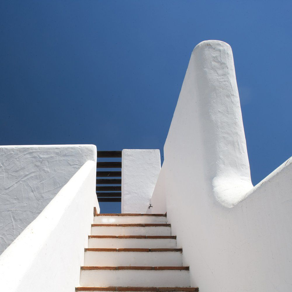stairs to terrace villa andalucia