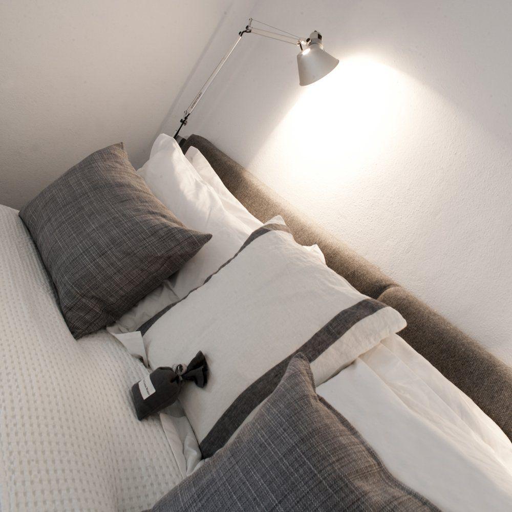 white linen bedroom ronda villa