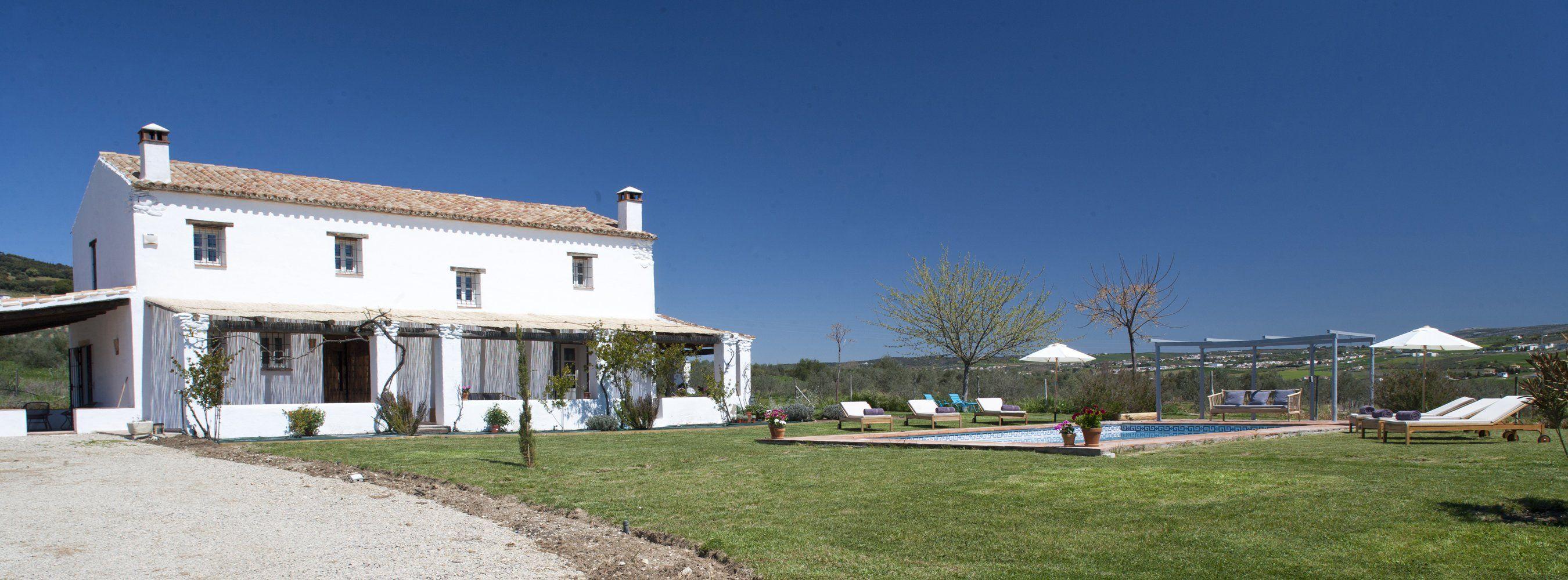 facade and garden ronda villa